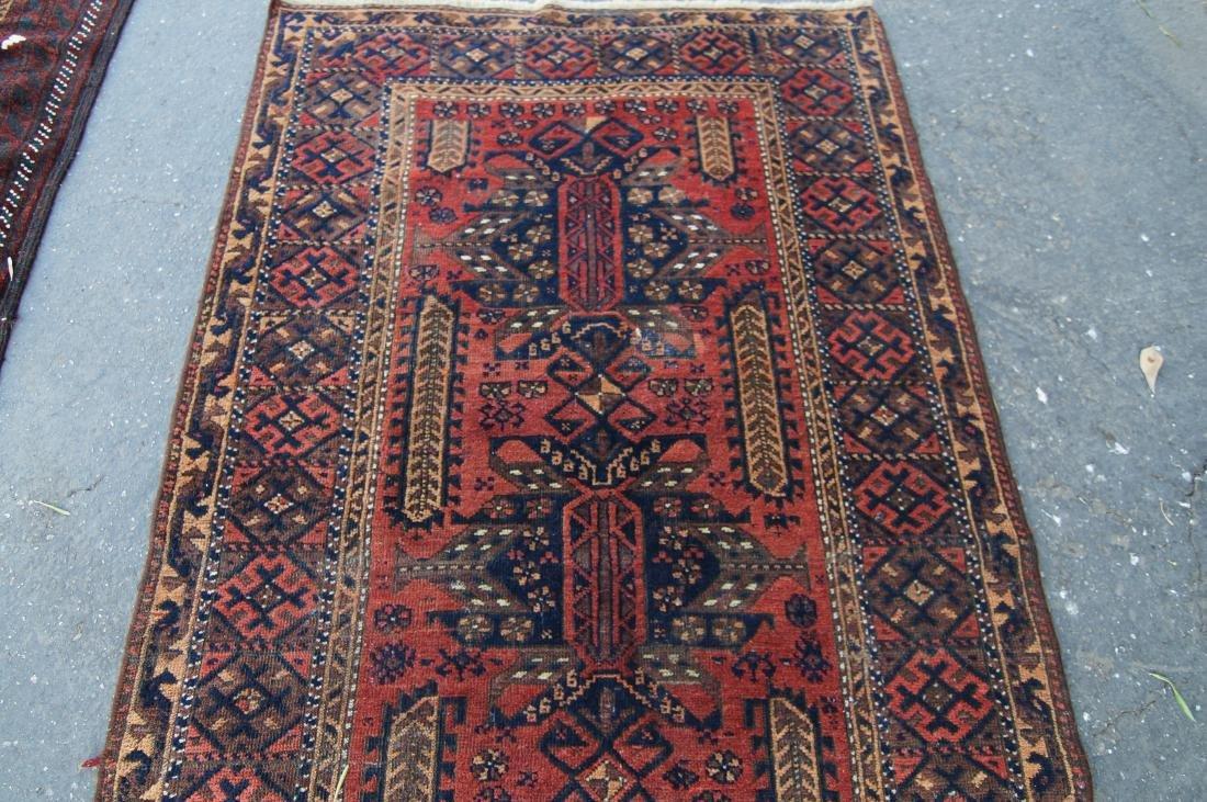 "19th cen. Persian Beluch rug -  37"" x 67"" - 6"
