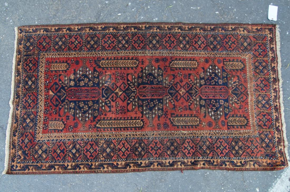 "19th cen. Persian Beluch rug -  37"" x 67"" - 7"