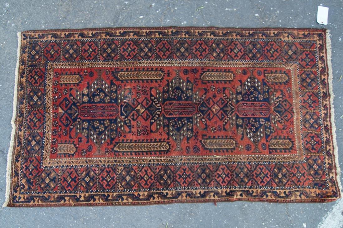 "19th cen. Persian Beluch rug -  37"" x 67"" - 8"