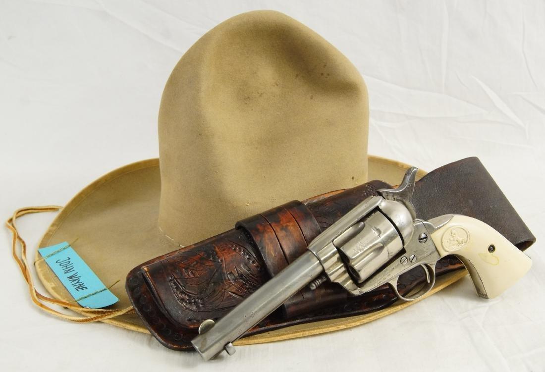 John Wayne's Colt SAA, Hat with Provenance - 10