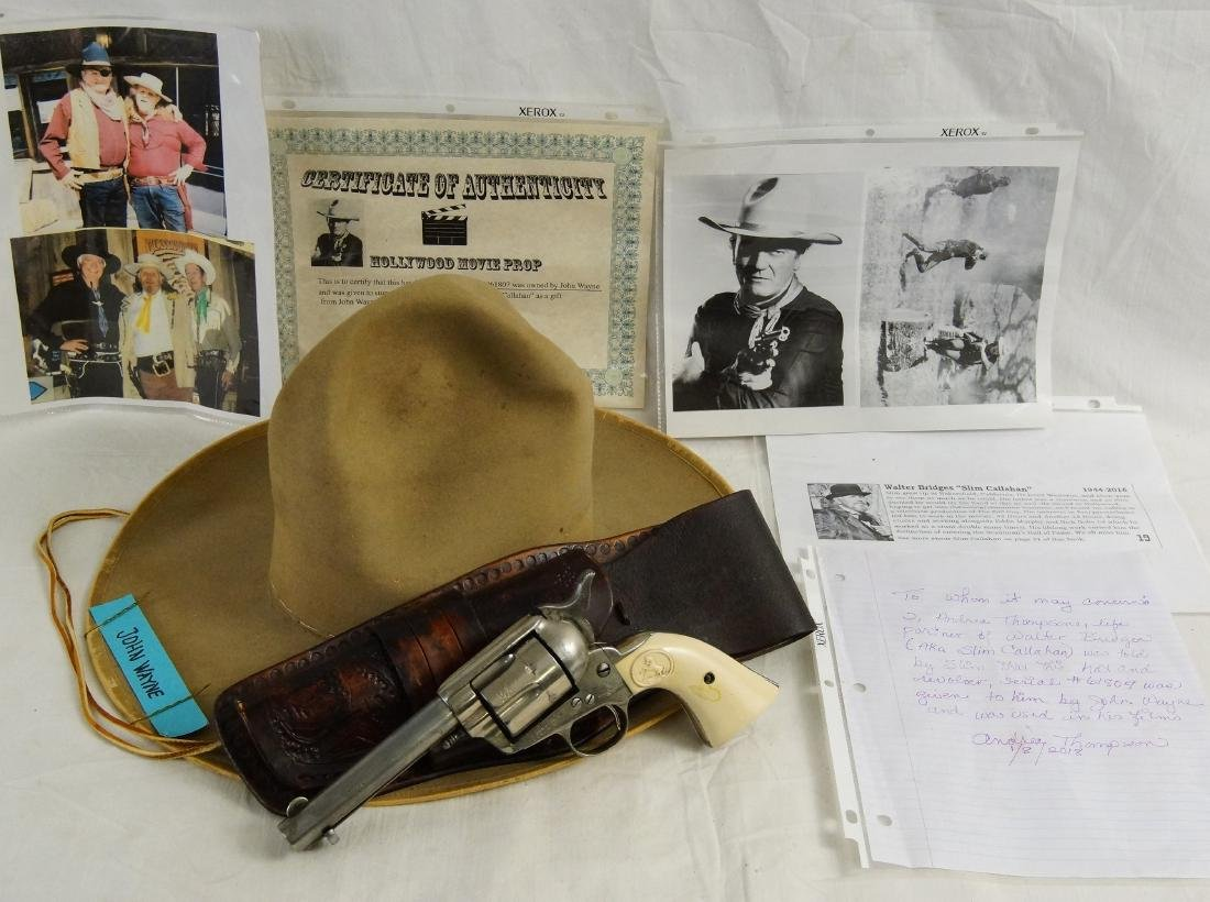 John Wayne's Colt SAA, Hat with Provenance - 2