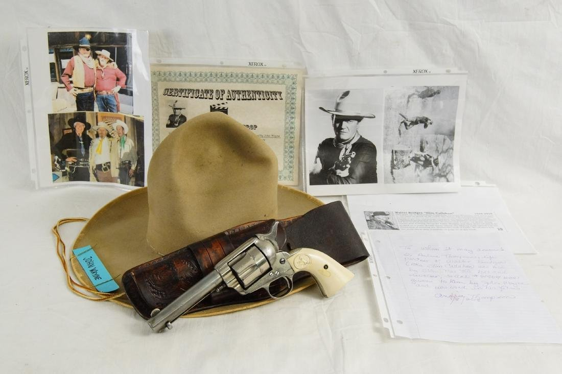 John Wayne's Colt SAA, Hat with Provenance - 3