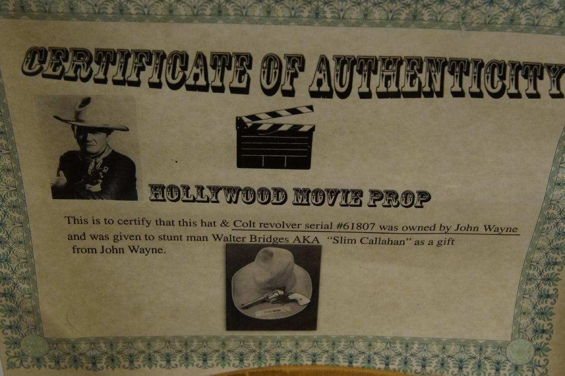 John Wayne's Colt SAA, Hat with Provenance - 7
