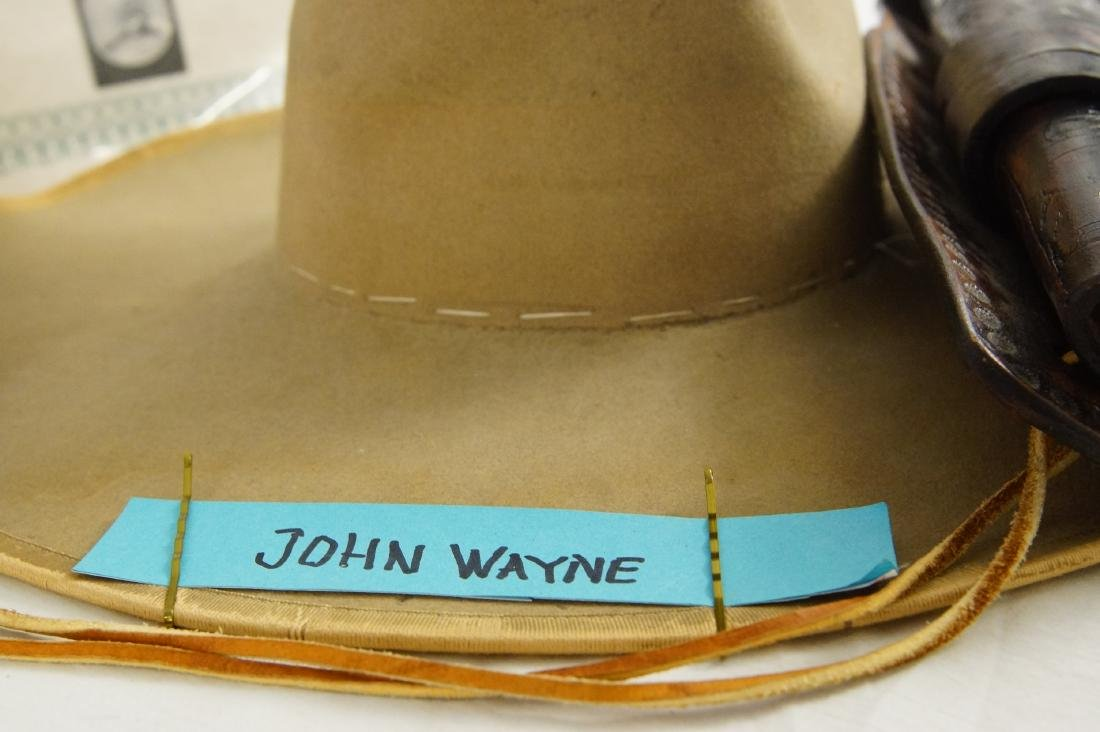 John Wayne's Colt SAA, Hat with Provenance - 9