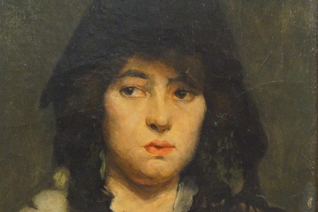 """Flemish portrait """"Bouchet"""" 20""""x16"""" oil on canvas - 3"""