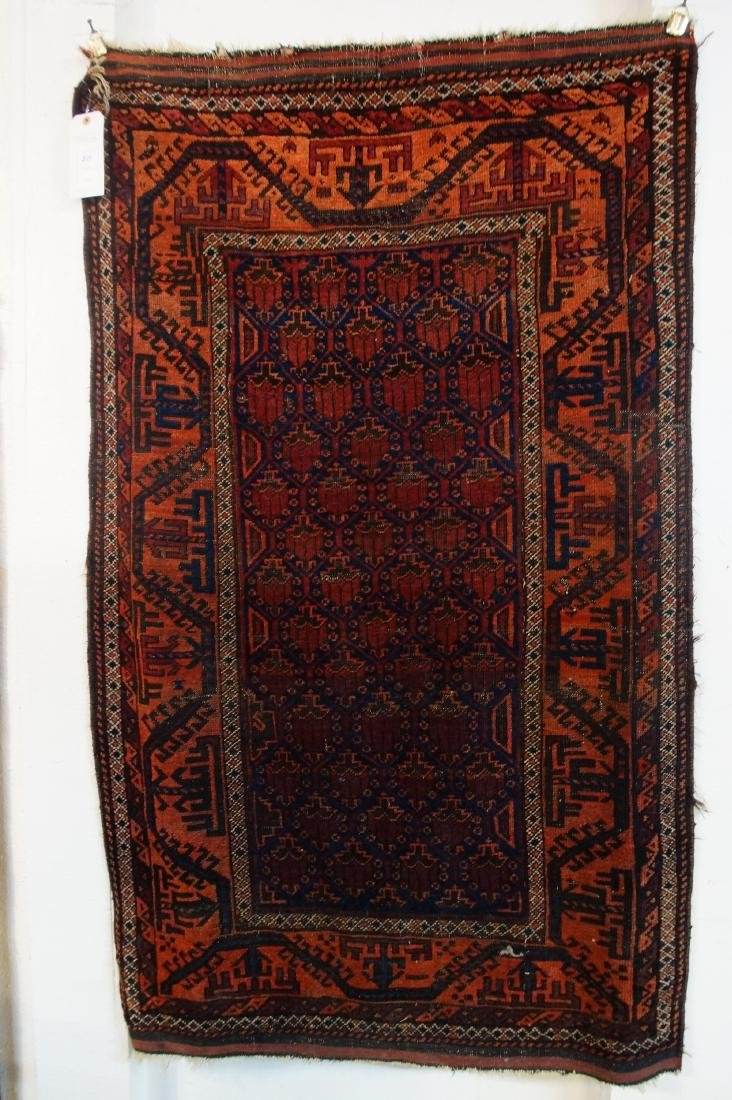 19th c. Beluch tribal rug -