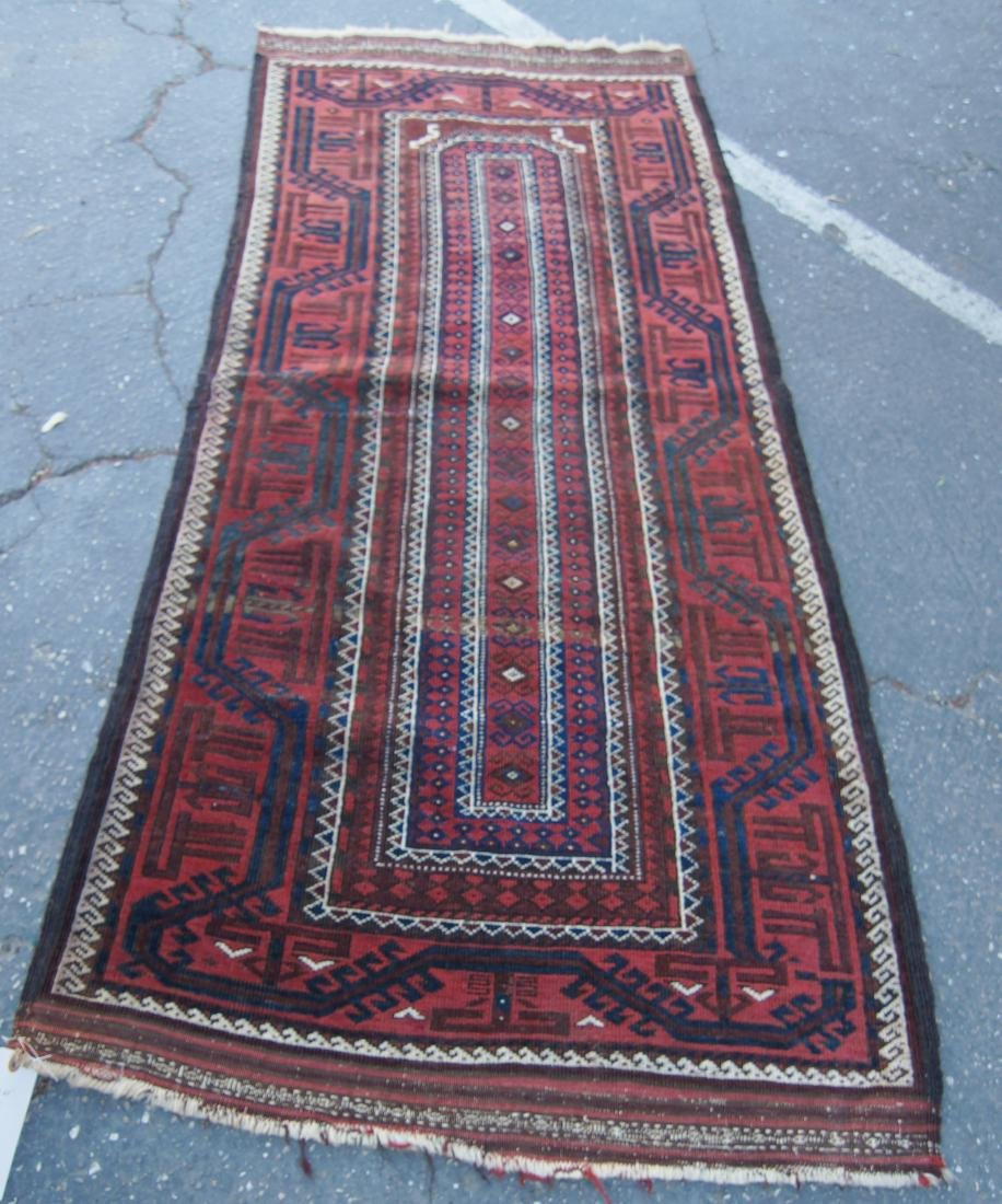 """Early 19th cen. Beluch rug -  36"""" x 72"""""""
