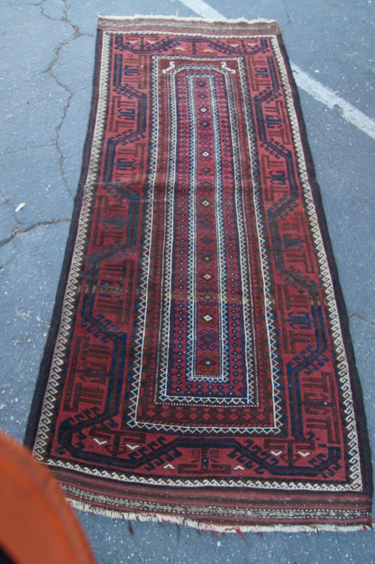 """Early 19th cen. Beluch rug -  36"""" x 72"""" - 2"""