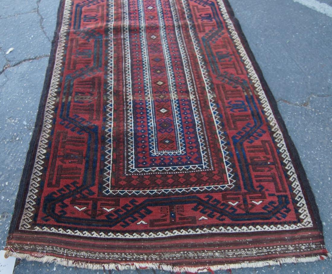 """Early 19th cen. Beluch rug -  36"""" x 72"""" - 3"""