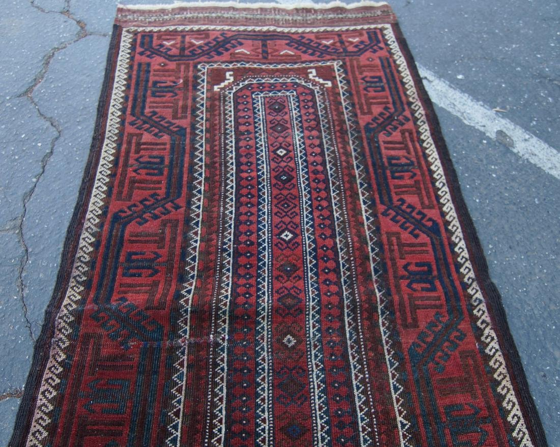 """Early 19th cen. Beluch rug -  36"""" x 72"""" - 4"""