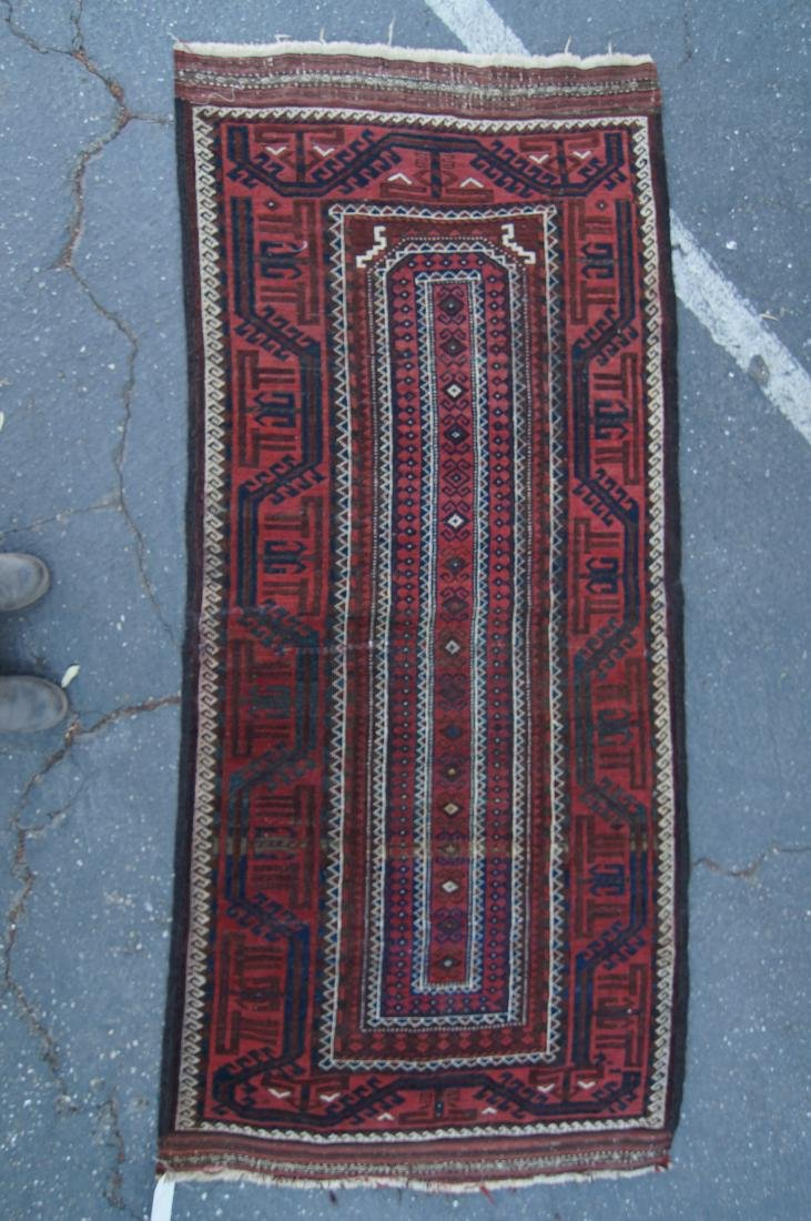 """Early 19th cen. Beluch rug -  36"""" x 72"""" - 7"""