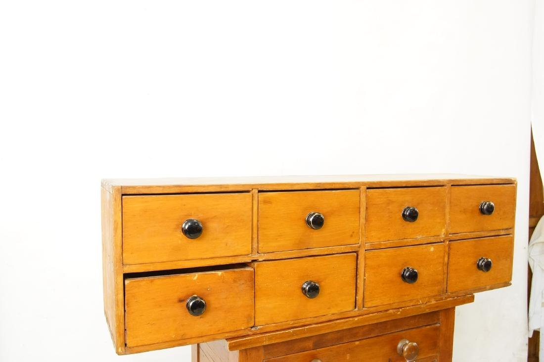 Early American eight drawer cabinet - 2