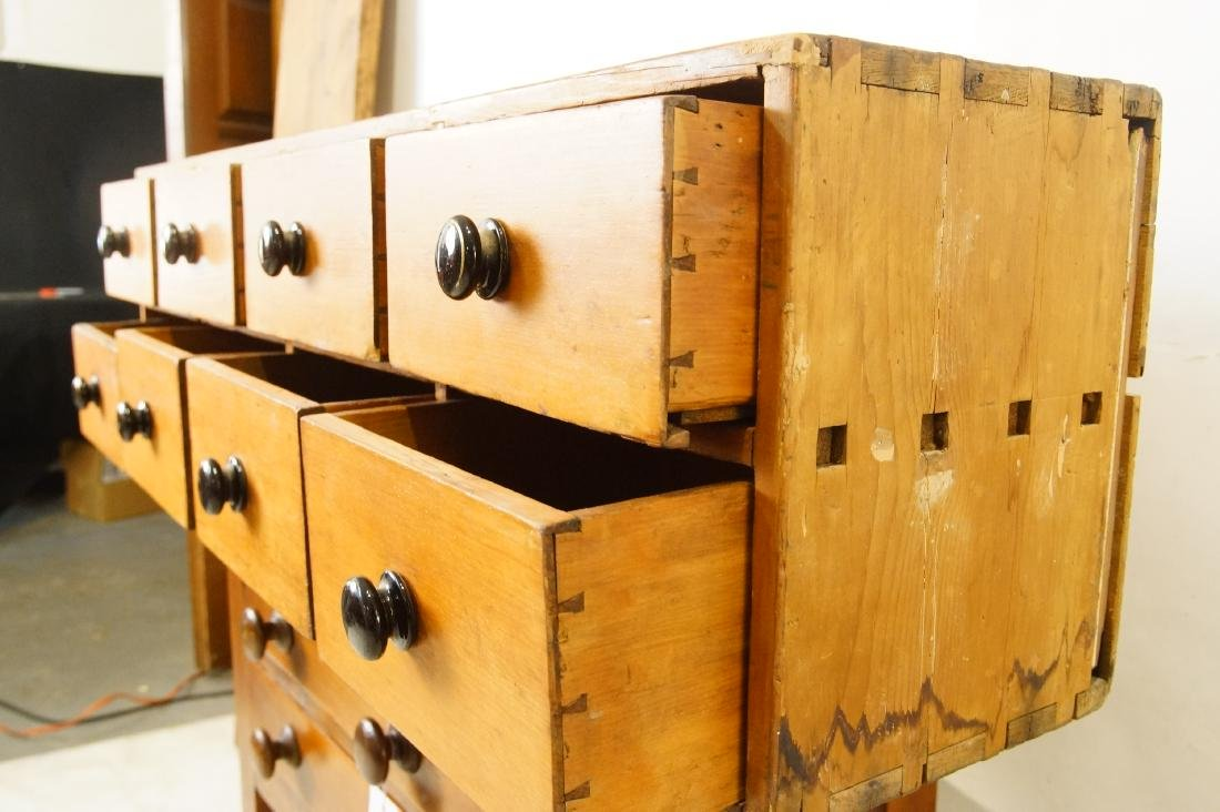 Early American eight drawer cabinet - 4