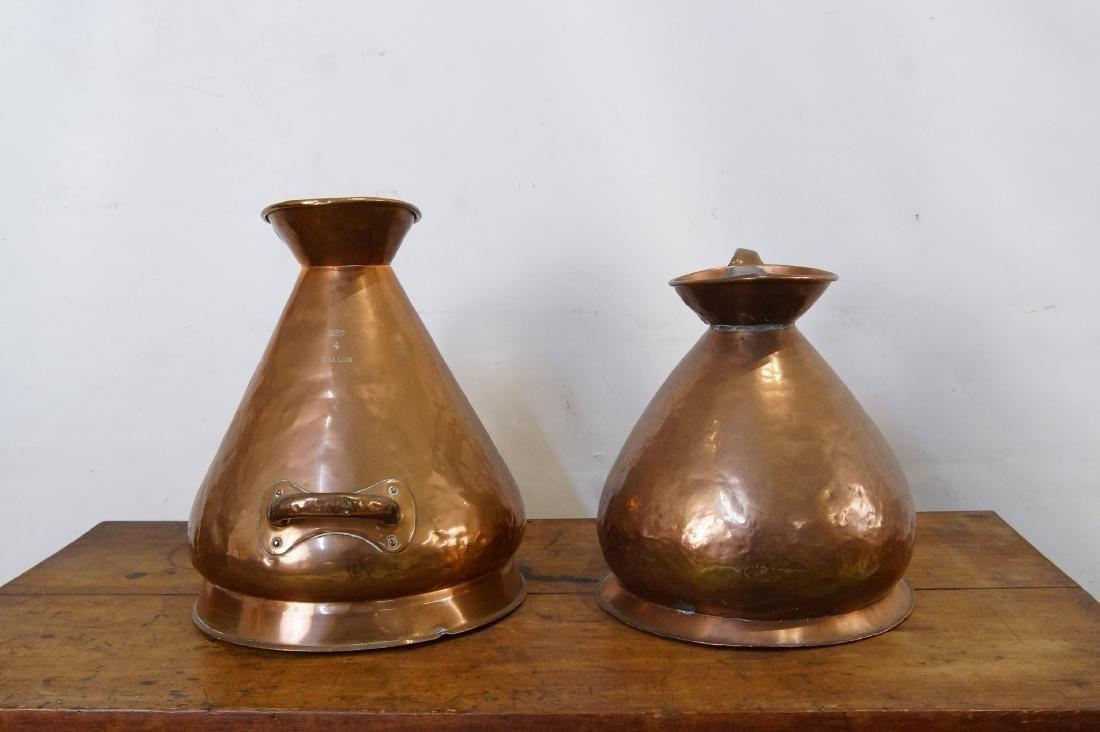 Two Antique Scottish Copper Haystack vessel