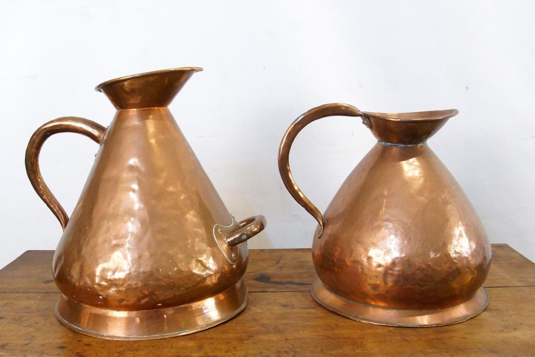 Two Antique Scottish Copper Haystack vessel - 4