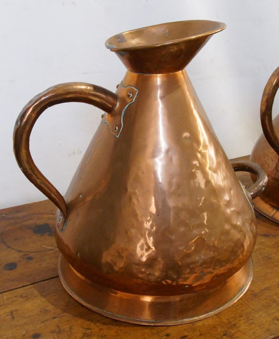 Two Antique Scottish Copper Haystack vessel - 5