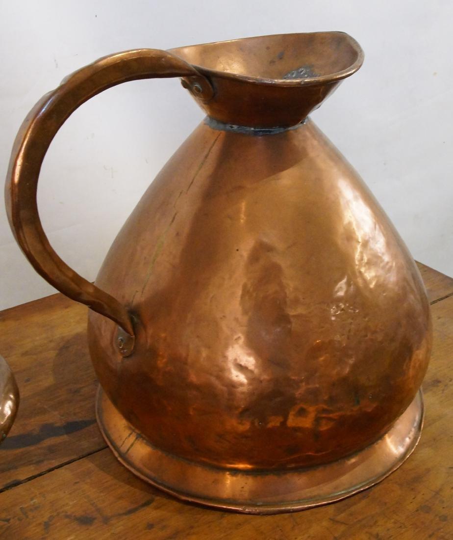 Two Antique Scottish Copper Haystack vessel - 6