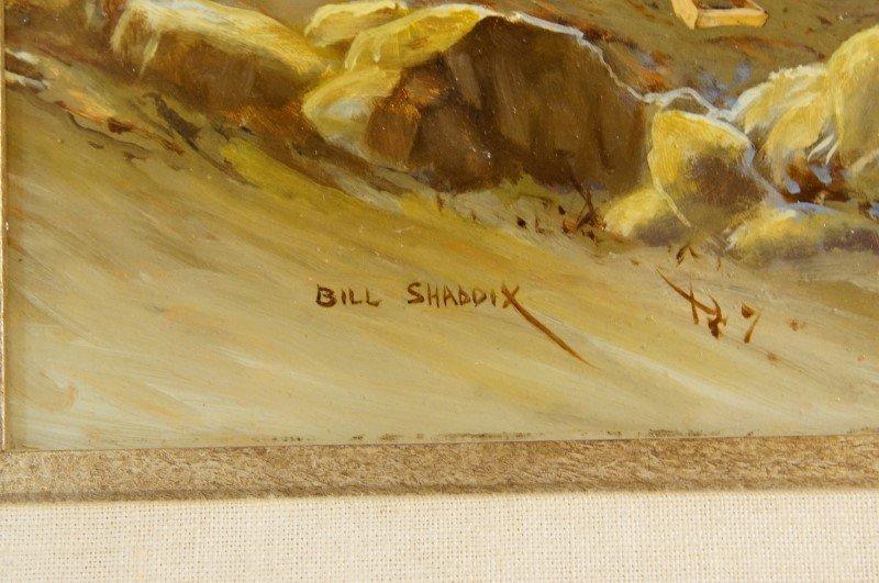 """Bill Shaddix (1931) 12"""" x 16"""" oil on board - 4"""