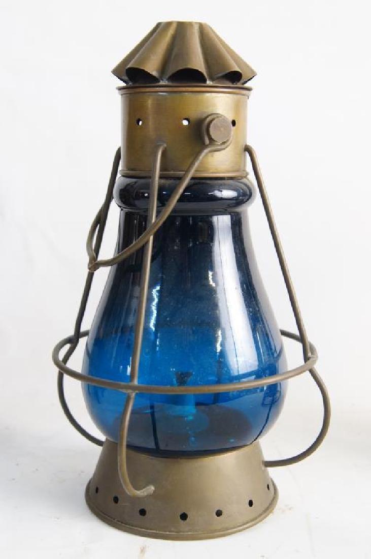 Antique Maritime Kerosene lanterns - 4 - 3
