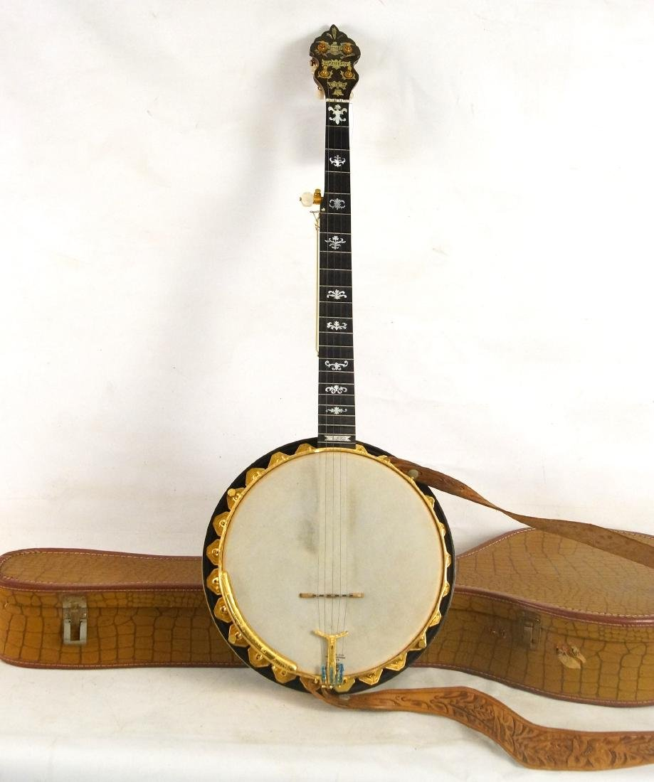 Gariepy Banjo - model 9 Liberty Banjo highly inlaid