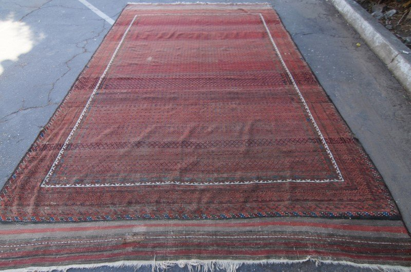 "19th C. Beluch rug - 7\' 5"" x 10\' 4\"""