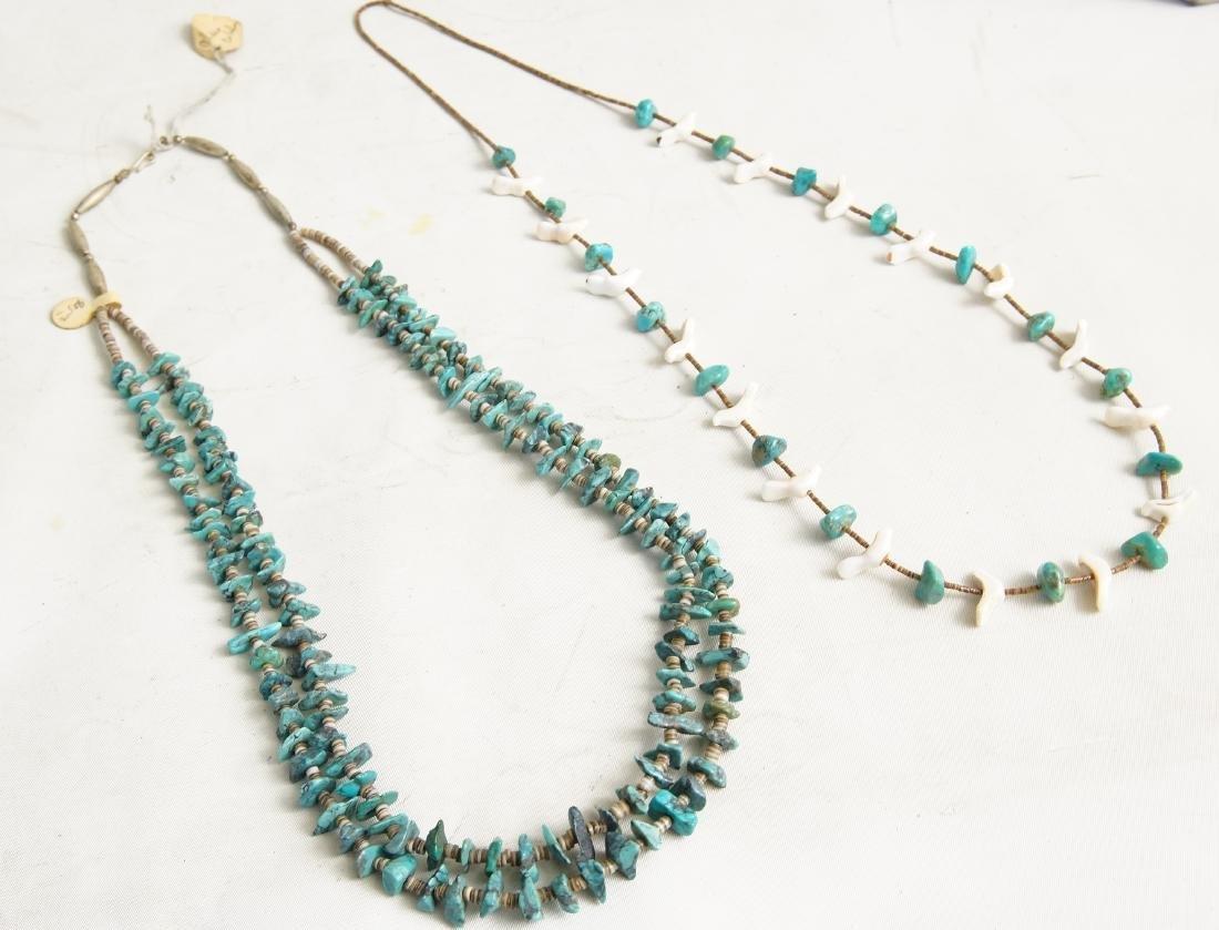 Pueblo beaded & Silver Hishi necklaces