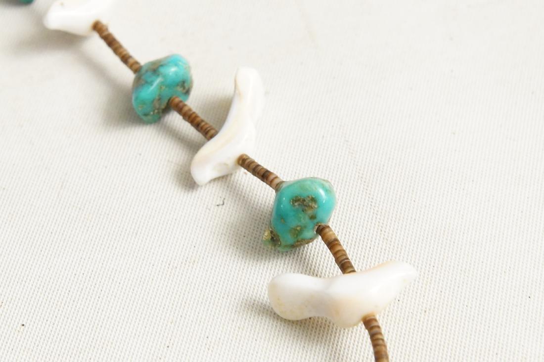 Pueblo beaded & Silver Hishi necklaces - 4