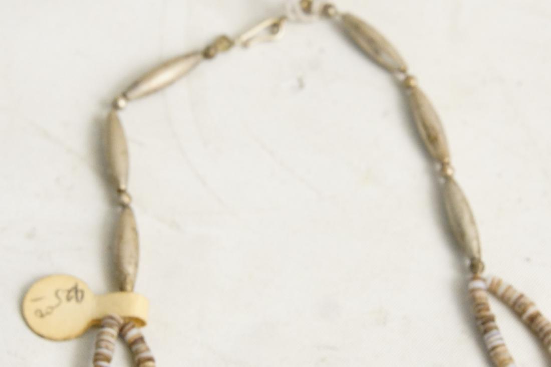 Pueblo beaded & Silver Hishi necklaces - 6