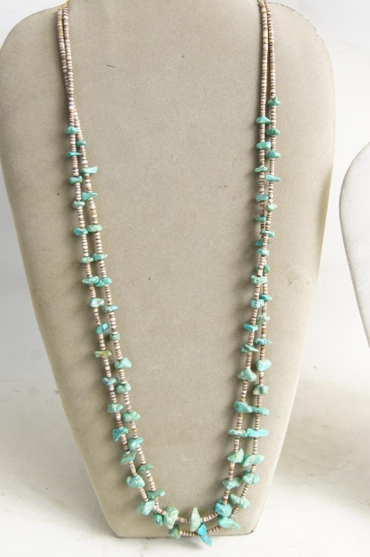 Santo Domingo Pueblo beaded & Silver necklaces - 2