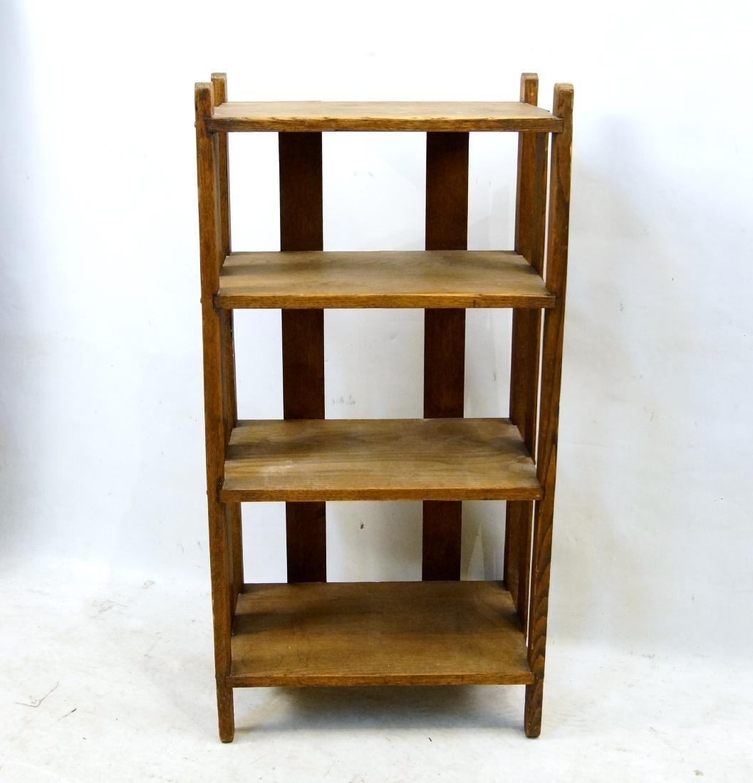 Arts & Crafts oak book shelf