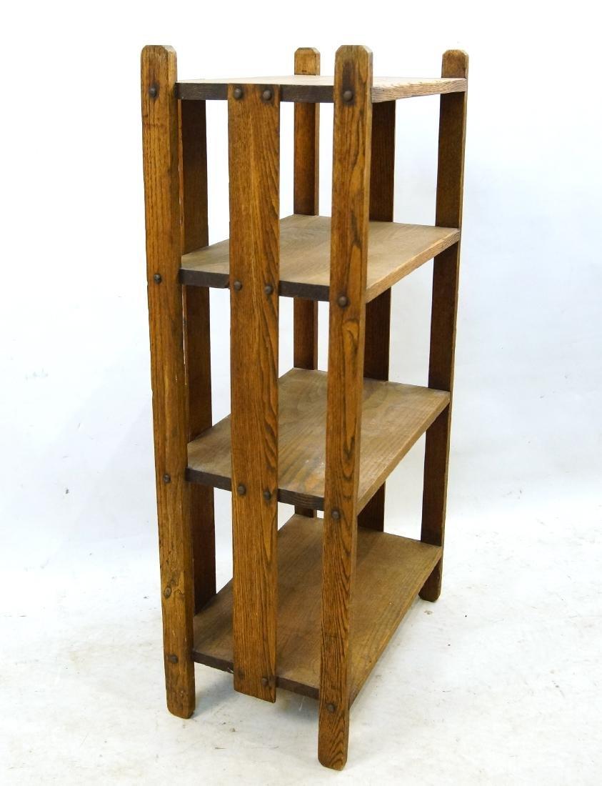 Arts & Crafts oak book shelf - 2