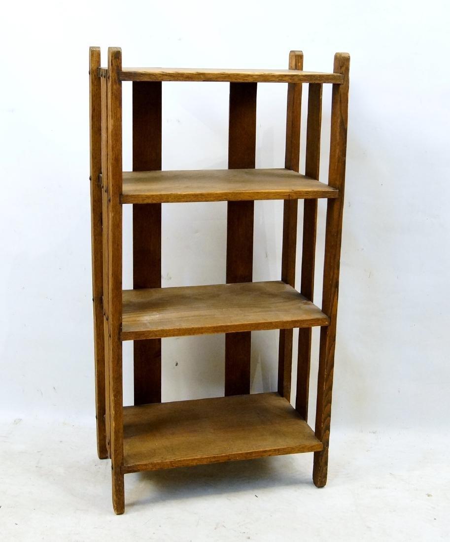 Arts & Crafts oak book shelf - 3