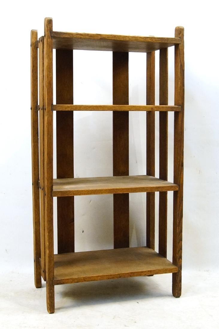 Arts & Crafts oak book shelf - 4