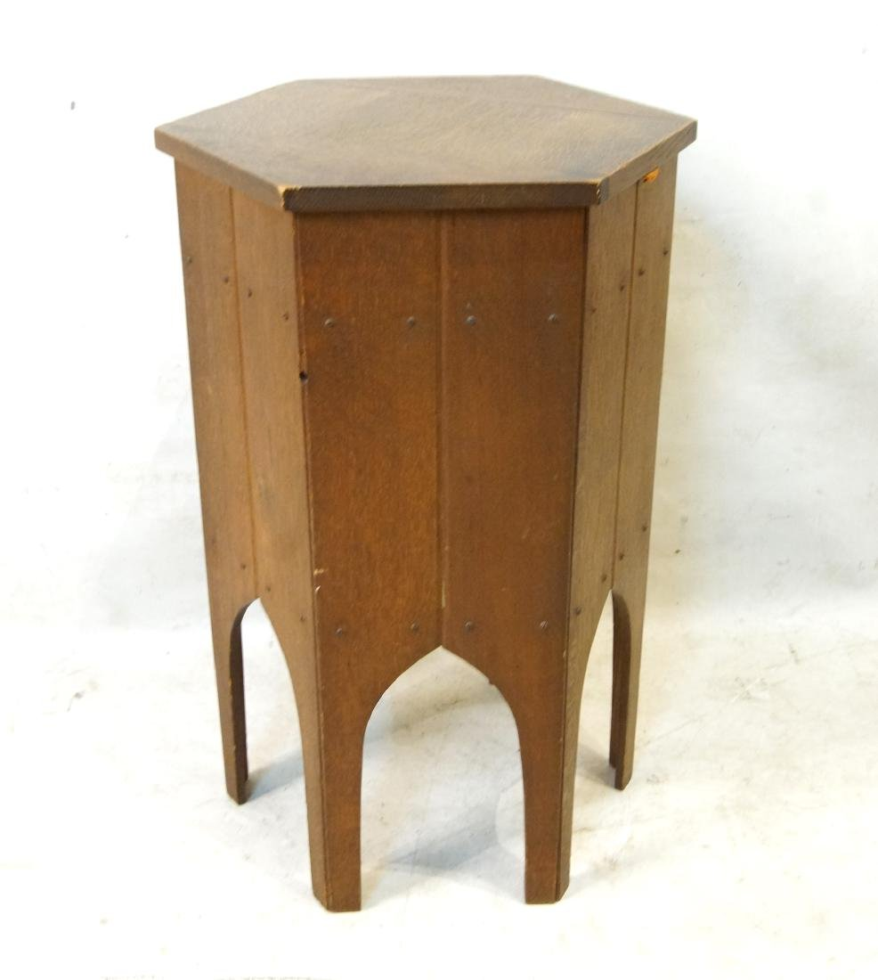 Moroccan style hexagon sewing stand