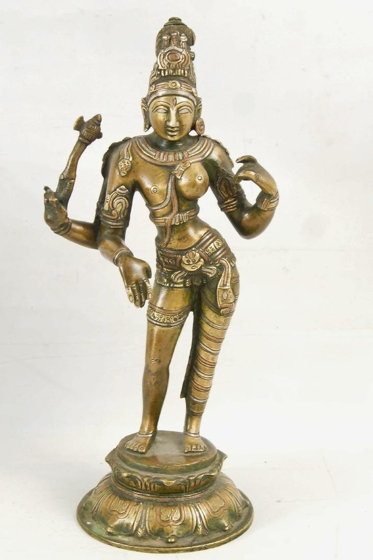 An Indian Bronze standing Ardhanarishvara