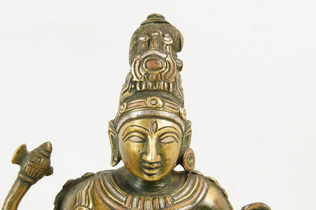 An Indian Bronze standing Ardhanarishvara - 2