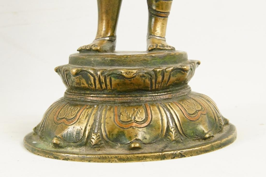 An Indian Bronze standing Ardhanarishvara - 3