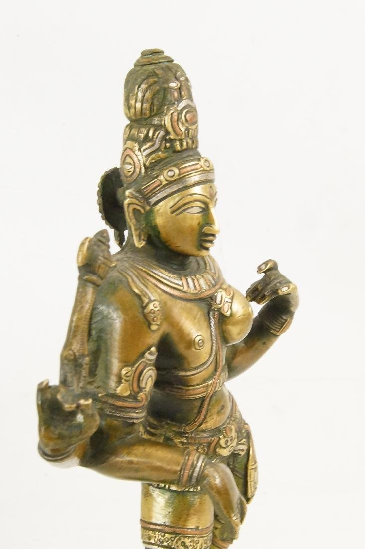 An Indian Bronze standing Ardhanarishvara - 4