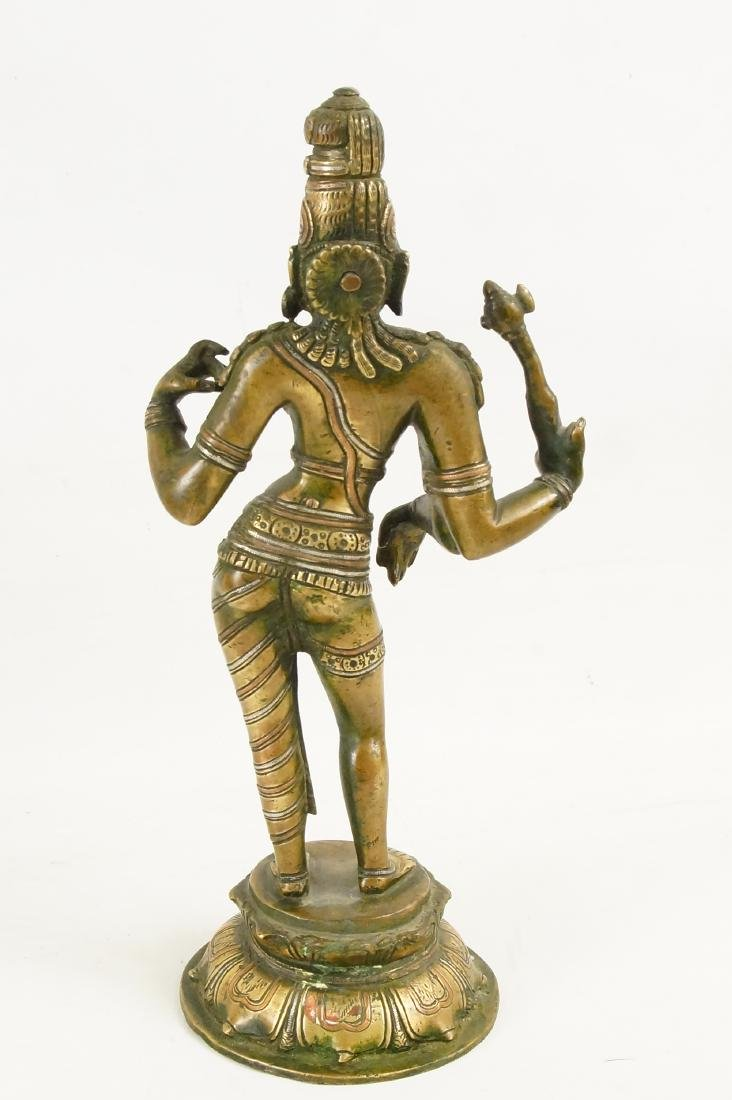 An Indian Bronze standing Ardhanarishvara - 5