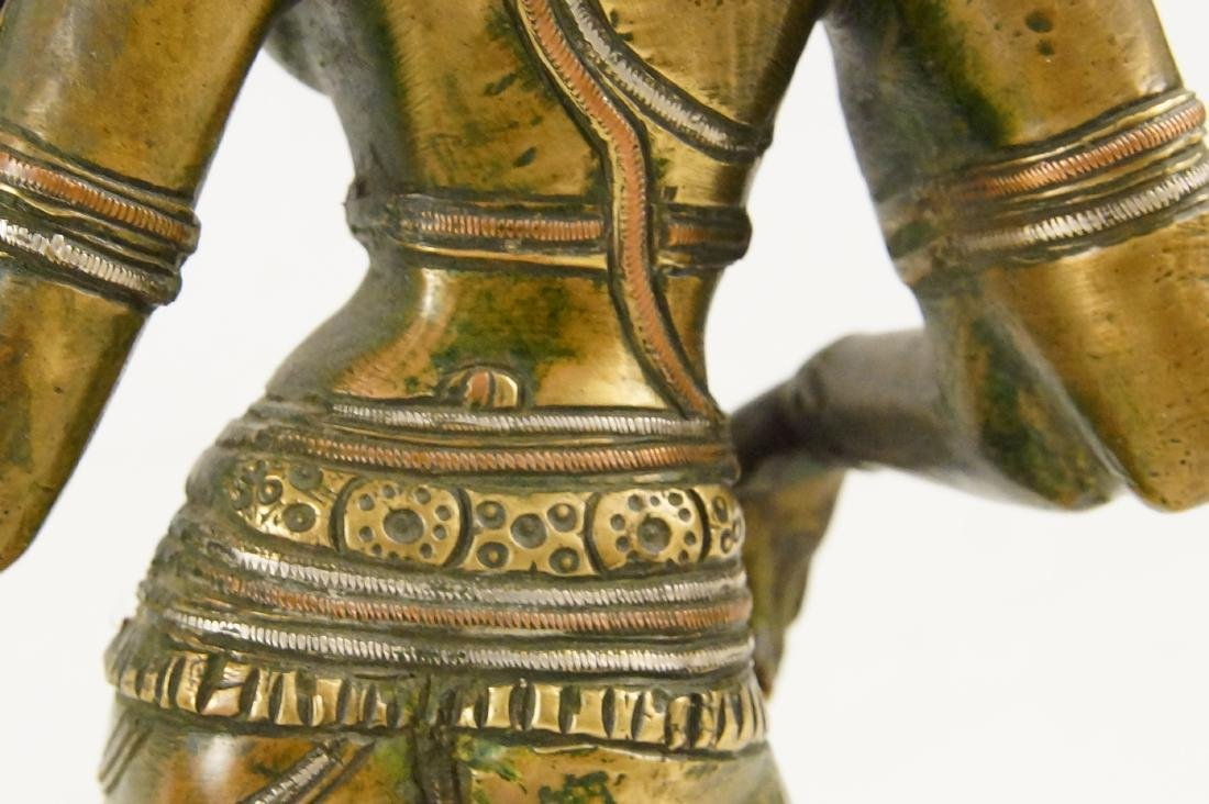 An Indian Bronze standing Ardhanarishvara - 6