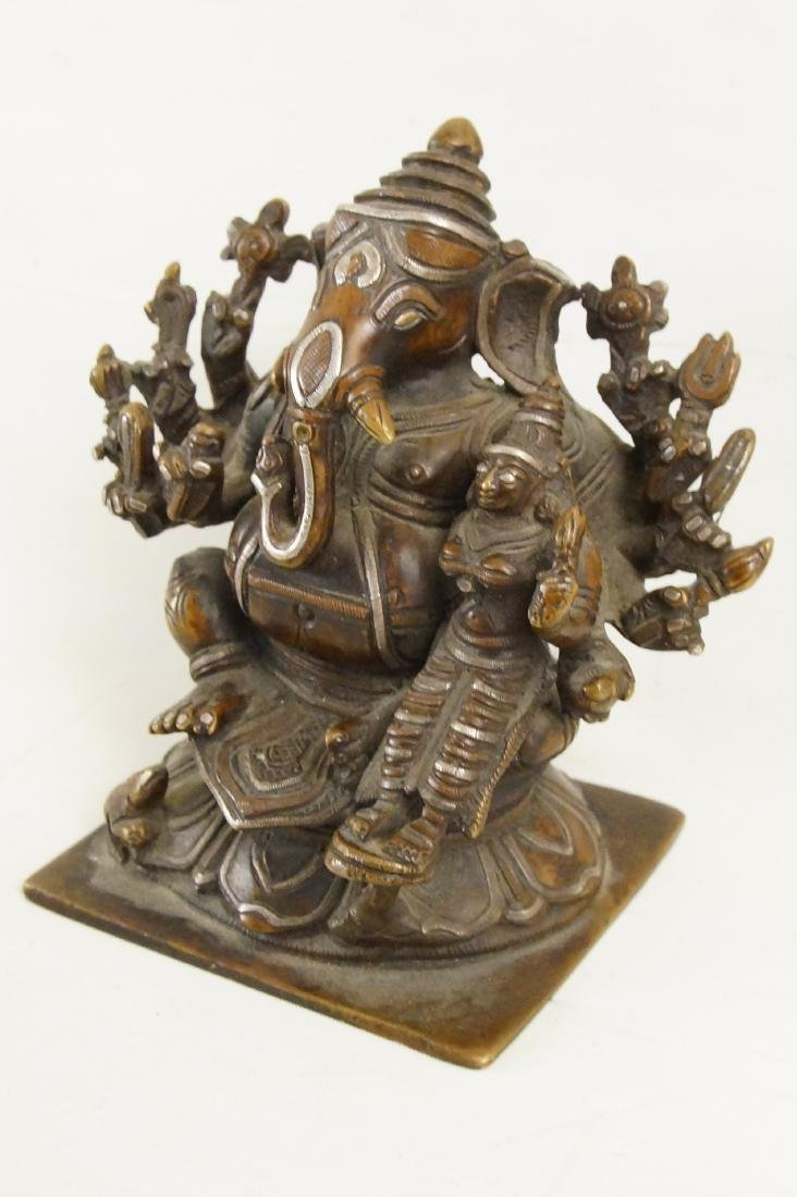 A Rare Indian Bronze Ganesh with Siddhi - 3