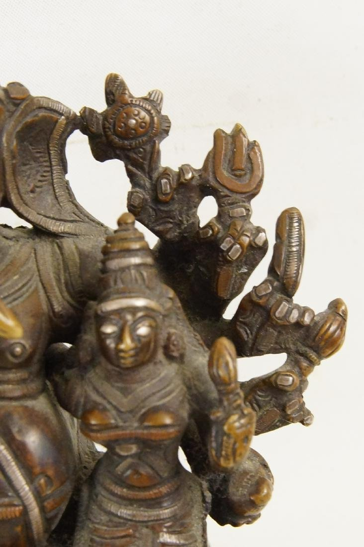 A Rare Indian Bronze Ganesh with Siddhi - 6