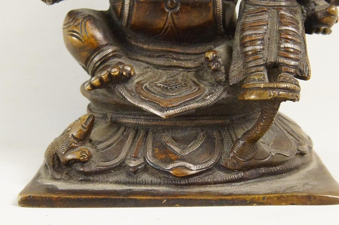 A Rare Indian Bronze Ganesh with Siddhi - 7