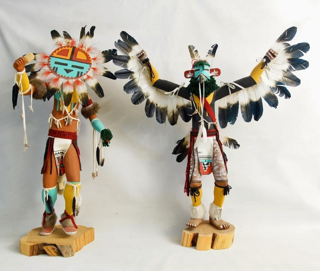 Two Large Hopi Byron Davis Kachina dolls