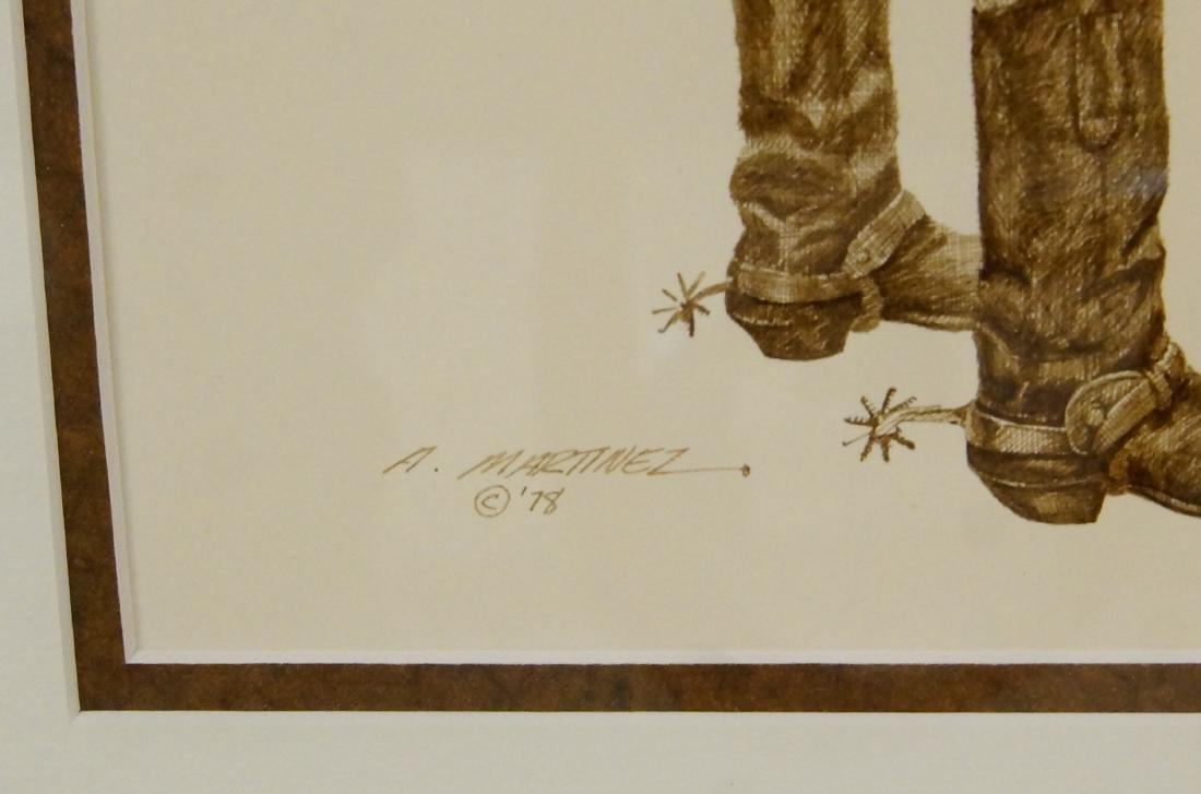 Armando Martinez pen and ink drawing - 4 pcs - 7