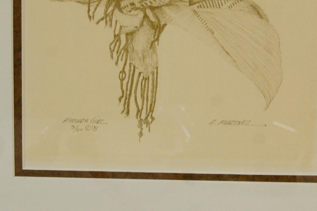 Armando Martinez pen and ink drawing - 4 pcs - 9