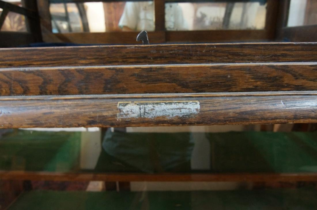 Antique table top showcase w curved glass front - 5