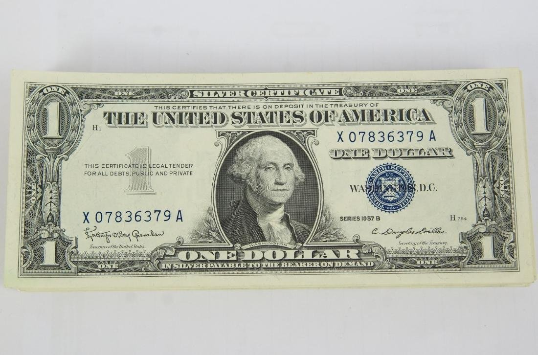 80 Uncirculated 1957 B US $1 Silver Certificates - 2