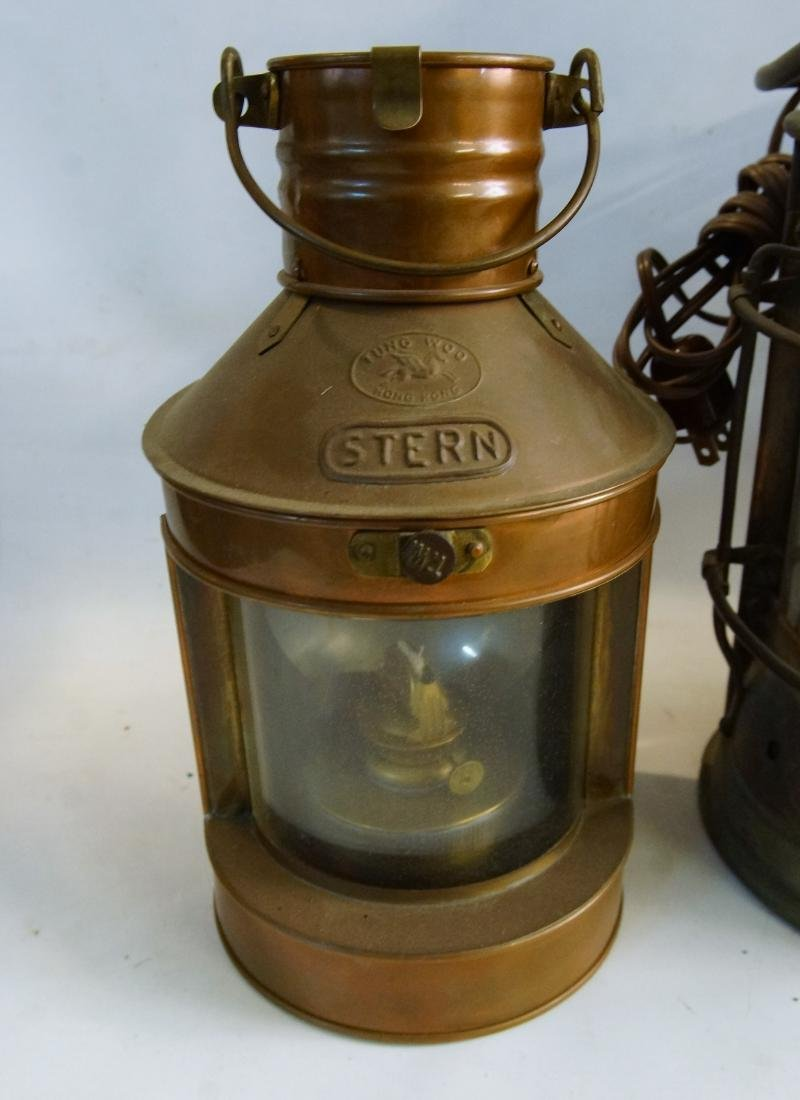 Collection of five antique kerosene lanterns - 2