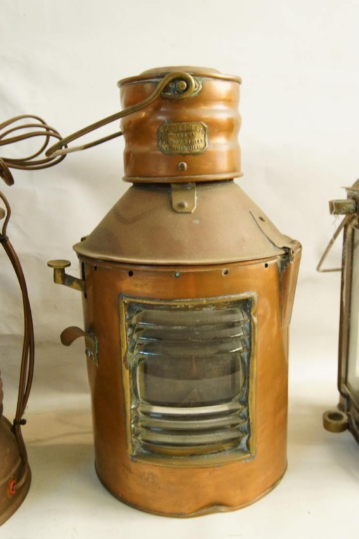 Collection of five antique kerosene lanterns - 5